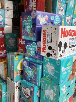 Pampers / Huggies All Size $30-$32 Per Box for Sale in Long Beach,  CA