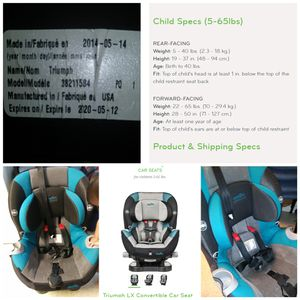 Front and rear facing car seat for Sale in Austin, TX