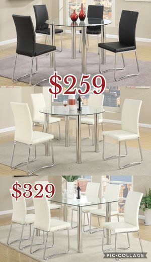 5pcs dining table set, table, chair $259/ 7pcs dining table set $329 for Sale in Los Angeles, CA