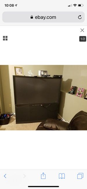 Mitsubishi tv 55 or 60 inch works great have the hdmi adapter best offer message me (similar to this one will take photos if interested) for Sale in Denver, CO