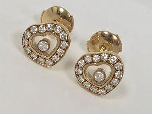 """CHOPARD Beautiful Heart Gold Studs Earrings """"HAPPY DIAMONDS"""" for Sale in Miami, FL"""