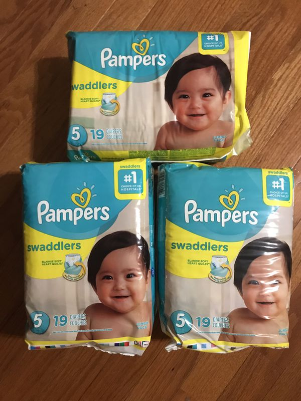 Pampers swaddlers x 3