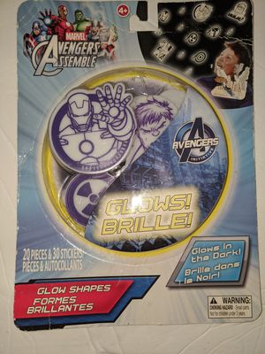 Marvel Superheroes Glow in the dark sticker's for Sale in Tacoma, WA