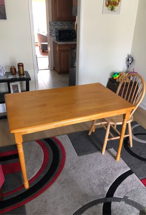 Table with 4 chairs (48x30) for Sale in Falls Church, VA