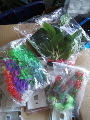 Boxes of new aquarium ornaments for Sale in Tullahoma, TN