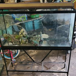 65 Tall Gallon Tank W/ Lights & Stand for Sale in Houston, TX