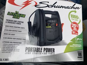 Portable power jump starter + usb power for Sale in Raleigh, NC