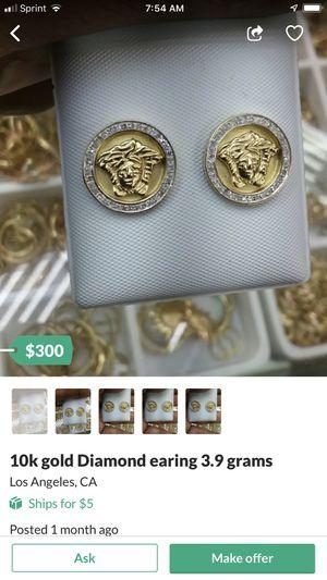 10 karat gold diamond earrings 3.9 G for Sale in City of Industry, CA