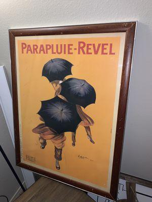 Vintage Parapluie Revel print for Sale in Lubbock, TX