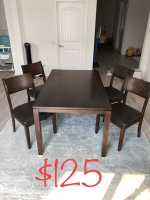 Dining Table Set with Chairs With 4 Chairs for Sale in Loma Linda, CA
