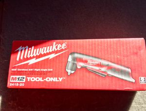 M12 RIGHT ANGLE DRILL * MILWAUKEE* for Sale in West Chester, PA
