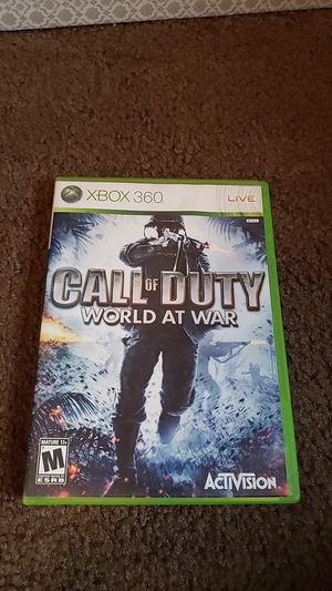 Call of Duty World at War Xbox360 for Sale in Chandler, AZ