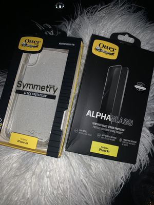 otterbox iphone xr case and screen protector for Sale in Newark, DE