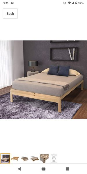 Wooden bed frame (queen) for Sale in Seattle, WA