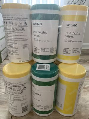 Solimo (Amazon Brand) 3packs 75ct Wipes for Sale in Boyds, MD