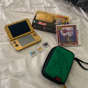 Nintendo 3DS XL Zelda Edition w/ 3 Games + Case for Sale in Fort Lauderdale, FL