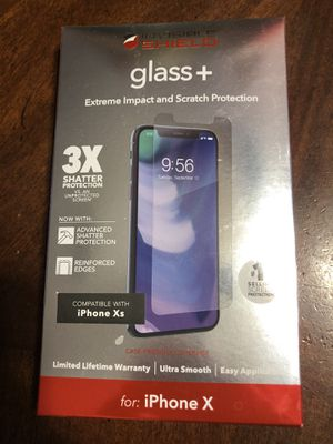 iPhone X invisible shield glass Plus Screen protection for Sale in Grand Prairie, TX