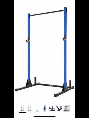 Cap squat power rack blue half rack 500 lbs weight capacity for Sale in Alhambra, CA