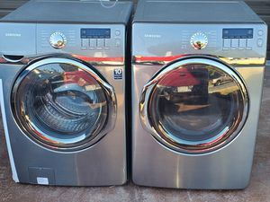 Great working Stainless Steel Samsung Washer and Dryer. for Sale in Bonita, CA
