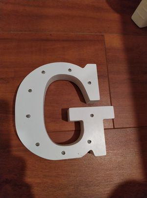 LAFEINA Light Up Decorative Letter, LED A-Z Letters Lights Wooden Decorative Alphabet Lamp for Bar Club Birthday Wedding Party Christmas (G) for Sale in San Jose, CA