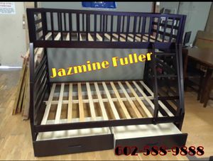 Twin size over full size bunk bed with Drawers for Sale in Glendale, AZ