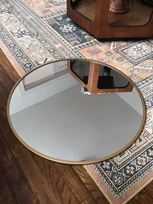 Round gold rimmed mirror. Like new 28 inches. $45 for Sale in Hamtramck, MI