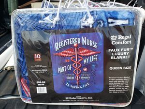 Registered nurse part of my life is saving life brand new Queen size for Sale in Barberton, OH