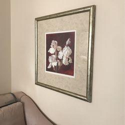 Large Silver Leaf Framed Wall Art for Sale in Highland,  MD