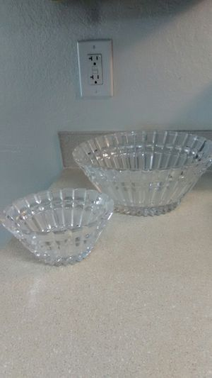 2 cut Crystal bowls for Sale in Tacoma, WA