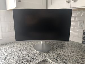"Samsung - 27"" LED Curved FHD FreeSync Monitor - Silver for Sale in Reading, PA"