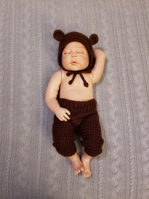 crochet baby bear costume for Sale, used for sale  League City, TX