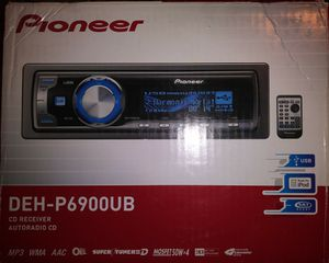 Pioneer Deck DEH-P6900UB Stereo Car for Sale in Burien, WA