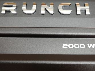 Car Amplifier : Brand New CRUNCH 2000 Watts 2 Channel car amplifier Built in Crossover 30a fuse( Brand New In Box Never Opened ) for Sale in Bell,  CA
