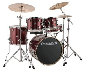 Ludwig Accent Cs Custom fusion 5-piece satin drum set(Good Condition) for Sale in Brooklyn, NY