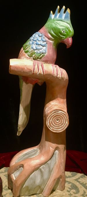 Colorful decorative wood sculpture - Parrot H25xW7xD9 inch for Sale in Chandler, AZ