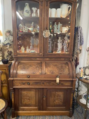 Walnut & Burl Secretary - Circa 1870's for Sale in Encino, NM