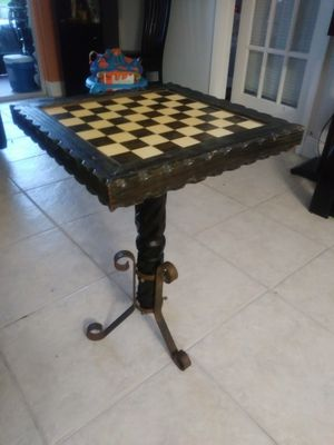 Wooden table chess. Come in two parts for Sale in Tamarac, FL