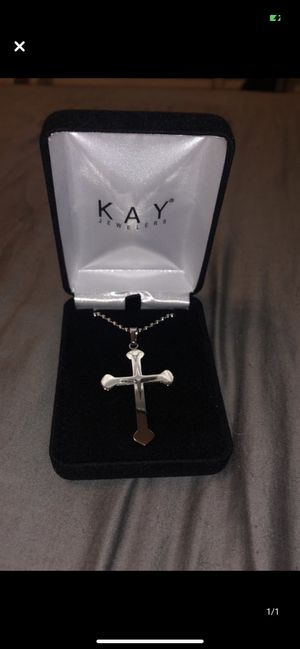 Men's Stainless Steel Cross Necklace for Sale in Corpus Christi, TX