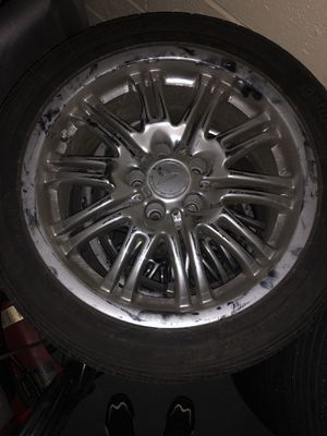 245/45R18 in good condition an 18 inch chrome rims in good condition all rims are good 400$ for all 8.5Jx19 ET48 5x120 2.5 for Sale in Garfield Heights, OH