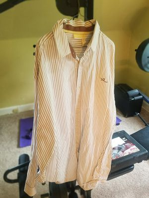 Rocawear White and Brown stripes dress shirt 3X for Sale in Woodlawn, MD