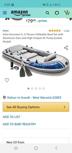 5 person boat used 5x this summer for Sale in West Warwick, RI