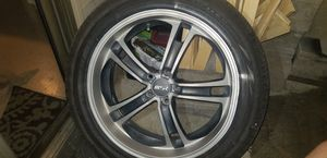 20 in black and chrome w/shimmer all 4 tires Pirelli.. for Sale in St. Louis, MO