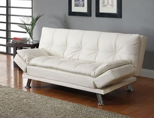New white faux leather sofa bed futon sleeper ⭐️FINANCING AVAILABLE for Sale in Fort Lauderdale, FL