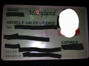Vehicle Dealer's License * NOT TAG RENTAL * for Sale in Alexandria, VA