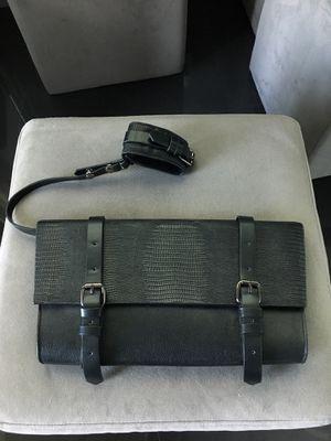 BCBG MAXAZRIA Black Leather Clutch NEW for Sale in Miami, FL