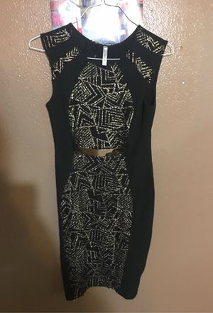 One peace black and gold dress for Sale in Houston, TX