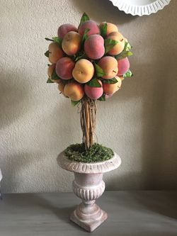 Flower arrangement Topiary - peaches colorful floral arrangement for Sale in Coppell,  TX