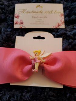 Tinkerbell Handmade Girls Hair Bow for Sale in Torrance,  CA
