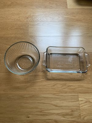 Glass Mixing Bowl and Baking Dish for Sale in Fairfax, VA