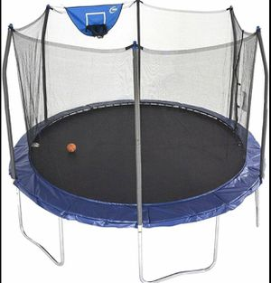 Skywalker Trampoline 12' Jump N Dunk Trampoline with Enclosure Net for Sale in Washington, DC
